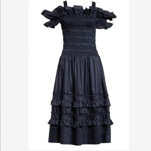 REBECCA TAYLOR Off The Shoulder Smocked Dress